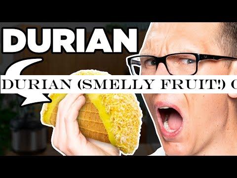 Durian (SMELLY FRUIT!) Choco Taco Taste